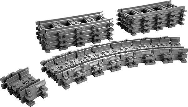 Stavebnice LEGO City 7499 Vlaky, Ohebné koleje