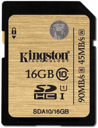 Paměťová karta Kingston SDHC 16GB UHS-I Class 10