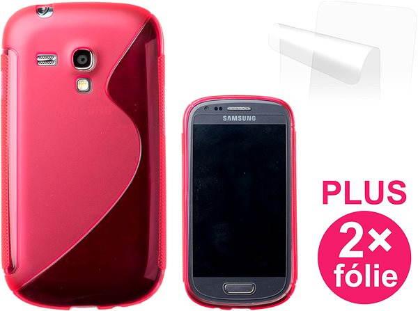 Pouzdro na mobilní telefon CONNECT IT S-Cover Samsung Galaxy S III Mini (i8190) červené
