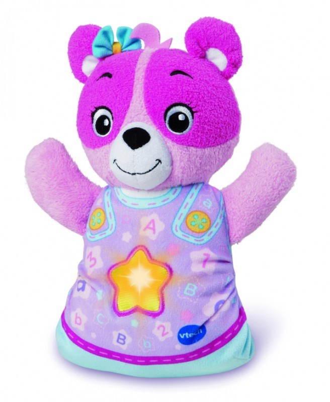 Plyšová hračka Vtech Usínáček Medvídek růžový