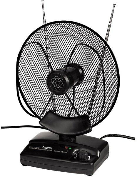 Pokojová anténa Hama DVB-T - aktivní VHF/ UHF/ FM