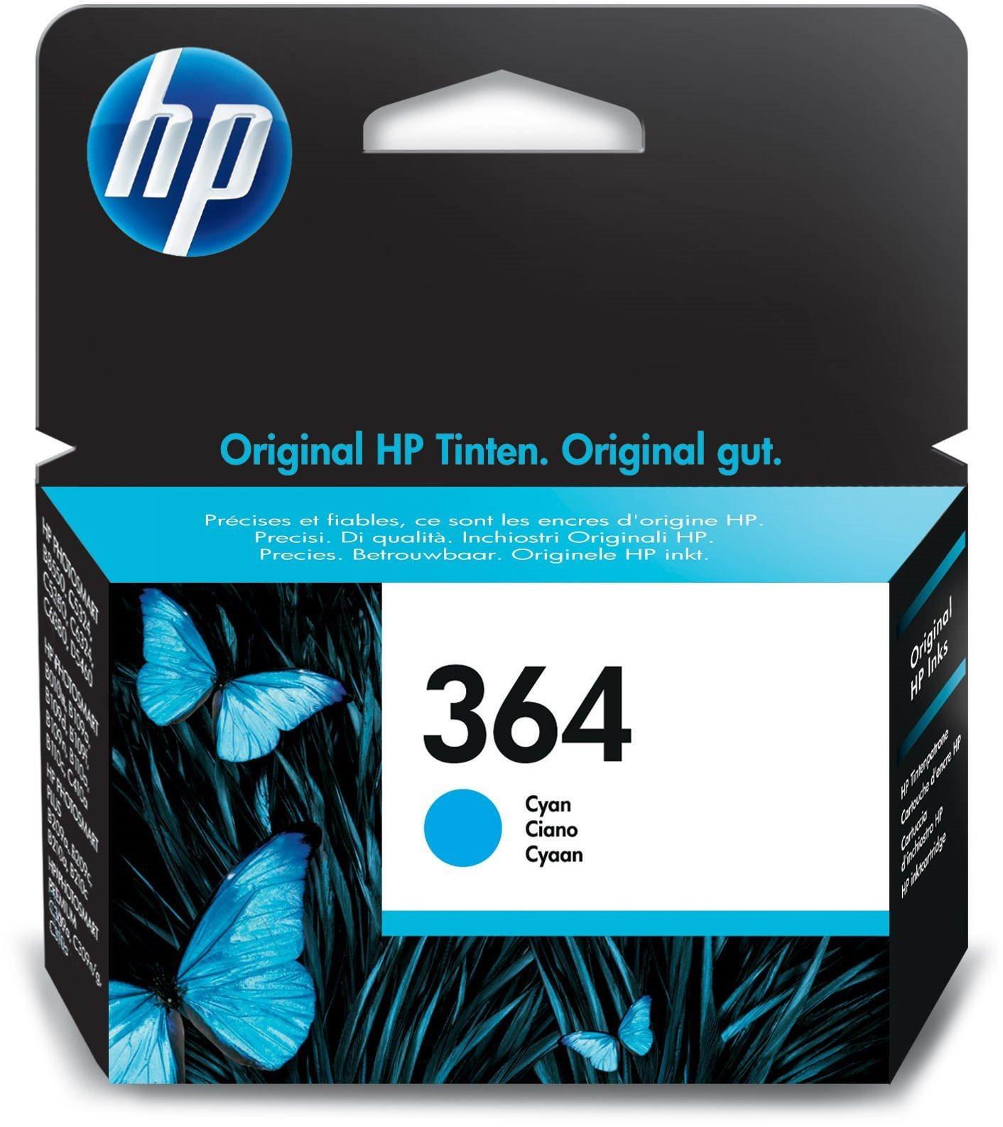 Cartridge HP CB318EE č. 364, inkoustová náplň modrá (cyan), pro D5460, C5380, C6380
