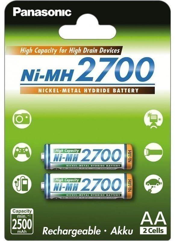 Akumulátory Panasonic eneloop NiMH AA 2700mAh 2ks
