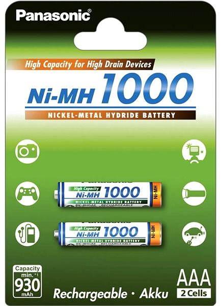 Akumulátory Panasonic eneloop NiMH AAA 930mAh 2ks