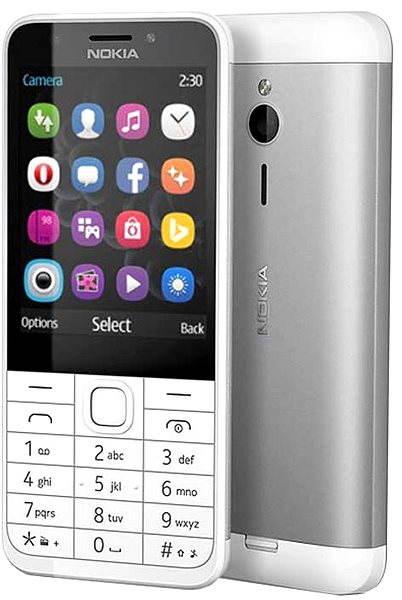 Mobilní telefon Nokia 230 Light Silver