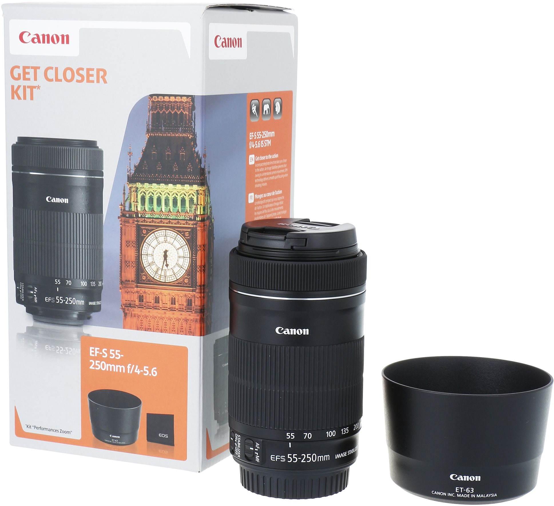 Objektiv Canon EF-S 55-250mm F4.0 - 5.6 IS STM + ET-63