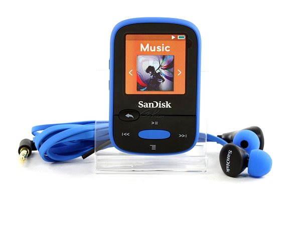 MP3 přehrávač SanDisk Sansa Clip Sports 8GB modrý
