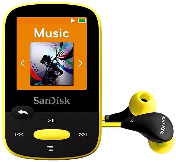MP3 přehrávač SanDisk Sansa Clip Sports 8GB žlutý