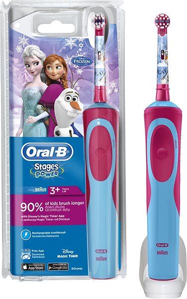 Elektrický zubní kartáček Oral B Vitality Kids D12K Frozen