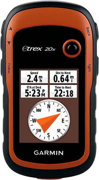 Ruční GPS navigace Garmin eTrex 20x (západní Evropa)