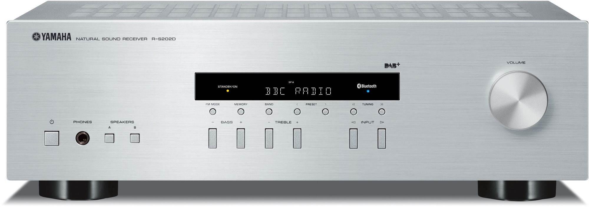 Stereo Receiver YAMAHA R-S202D stříbrný
