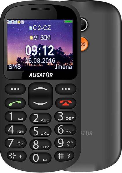Mobilní telefon Aligator A880 GPS Senior černý + stolní nabíječka