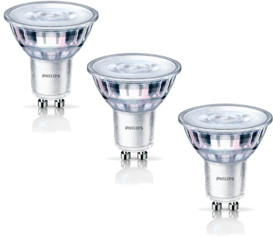 LED žárovka Philips LED Classic spot 4.6-50W, GU10, 2700K, set 3ks