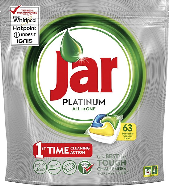 Tablety do myčky JAR Platinum Lemon (63 ks)