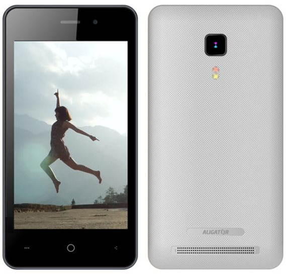 Mobilní telefon Aligator S4080 Duo stříbrný