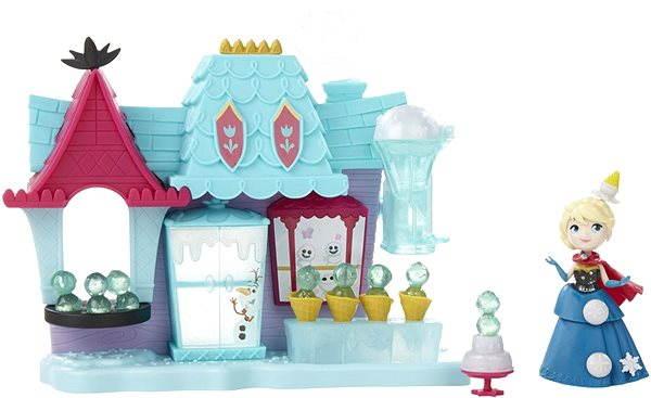 Herní set Frozen mini panenka - Hrací sada Elsa a Ledový obchod