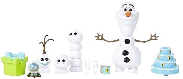 Herní set Ledové království - Olaf s párty doplňky