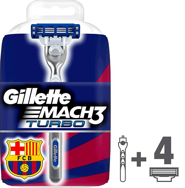 Holicí strojek GILLETTE Mach3 Turbo + hlavice 4 ks