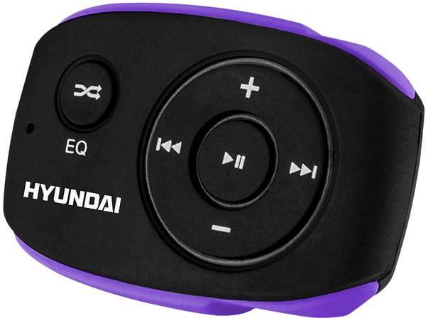 MP3 přehrávač Hyundai MP 312 8GB černo-fialový