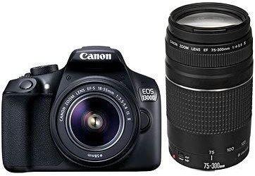 Digitální zrcadlovka Canon EOS 1300D + 18-55mm DC III + 75-300m DC III