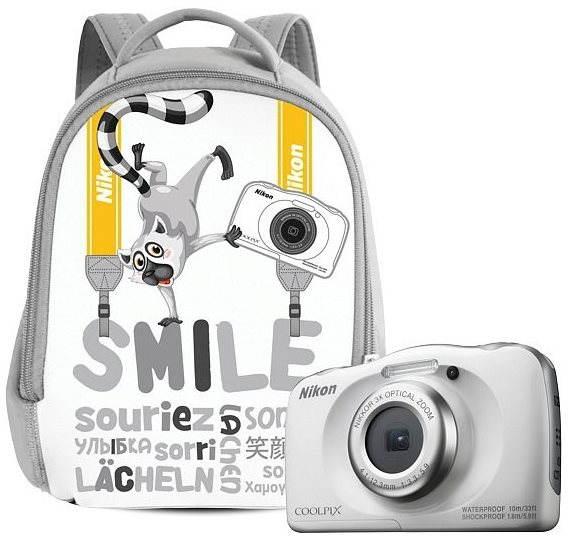 Digitální fotoaparát Nikon COOLPIX W100 bílý backpack kit