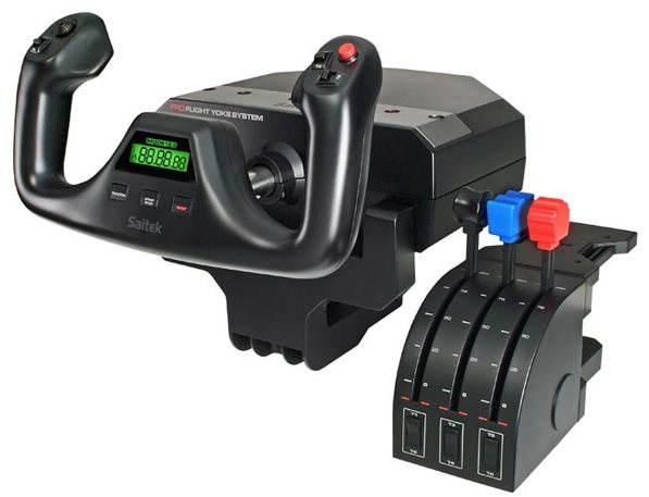 Profesionální herní ovladač Saitek Pro Flight Yoke System