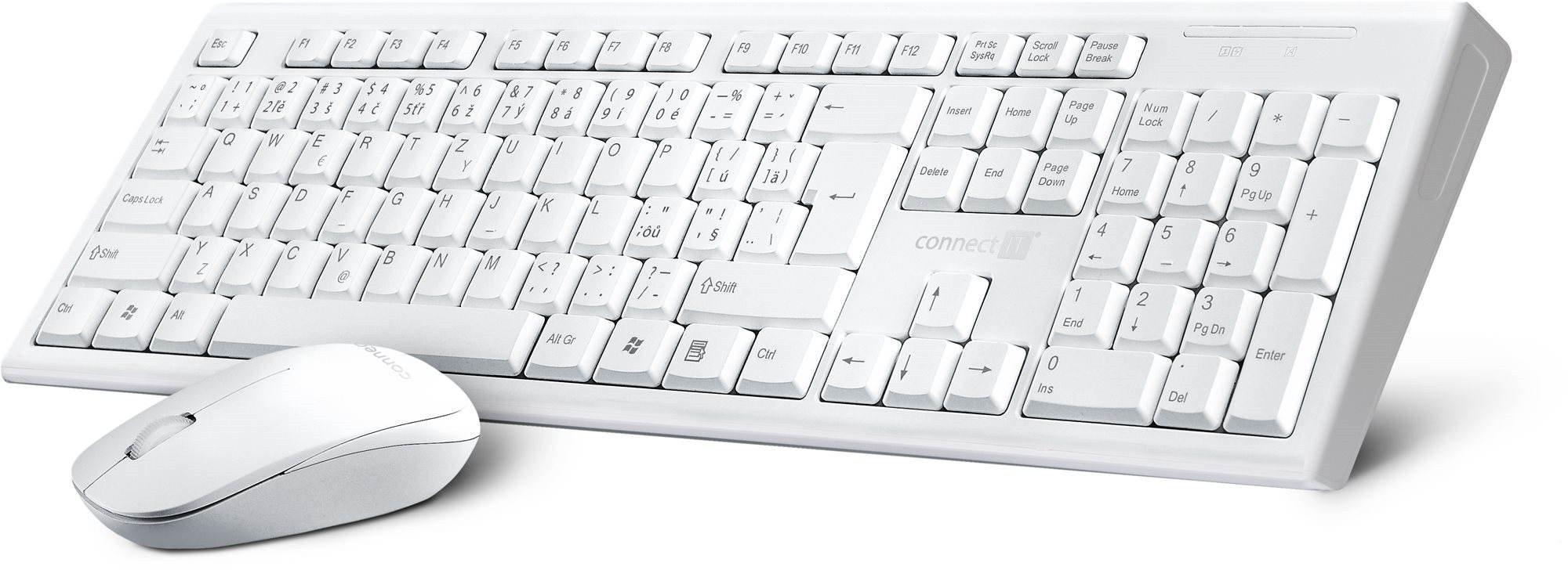 Set klávesnice a myši CONNECT IT CI-1118 Combo CZ + SK, bílý