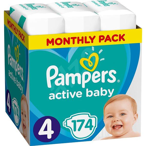 Dětské pleny PAMPERS Active Baby-Dry vel. 4 Maxi (174 ks)