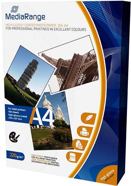 Fotopapír MEDIARANGE A4 100 listů, lesklý