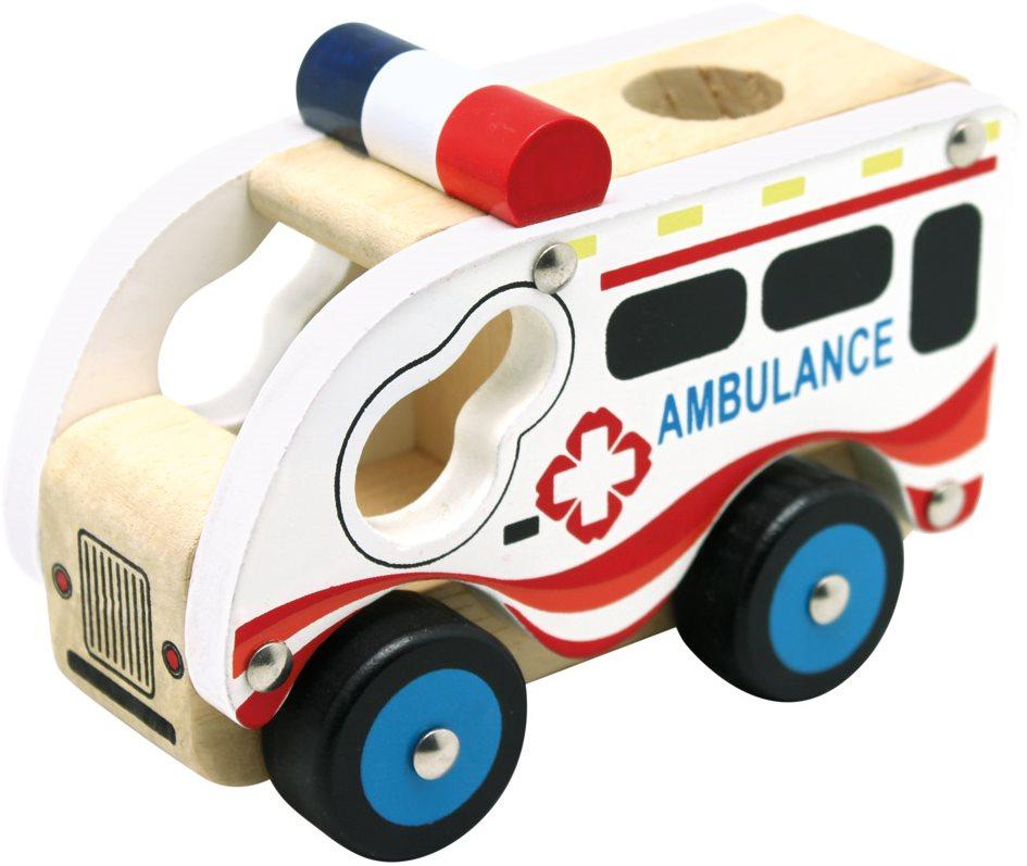 Auto Bino Dřevěné auto ambulance