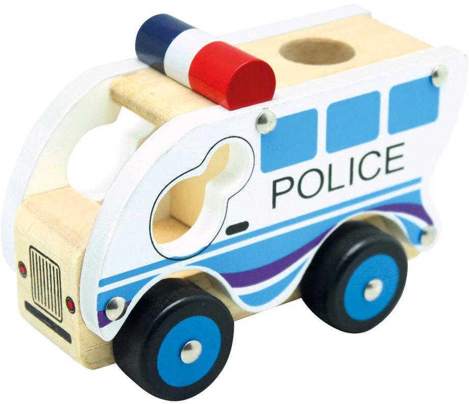 Auto Bino Dřevěné auto policie