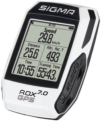 Cyklocomputer Sigma Rox 7.0 GPS bílá