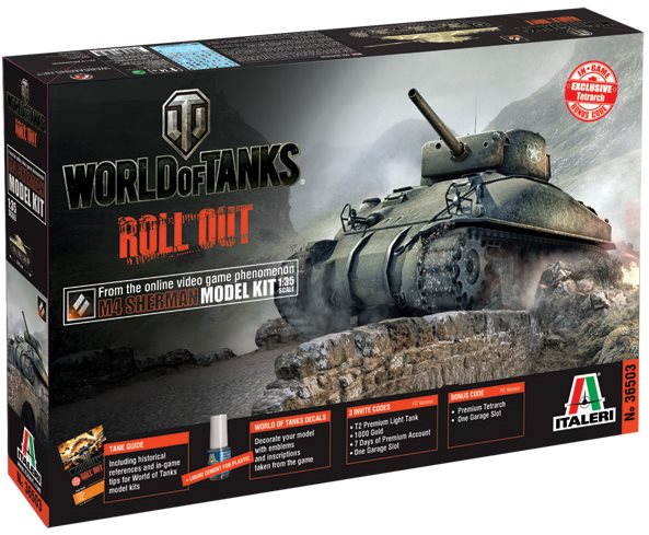 Plastový model Italeri World of Tanks 36503 – M4 Sherman