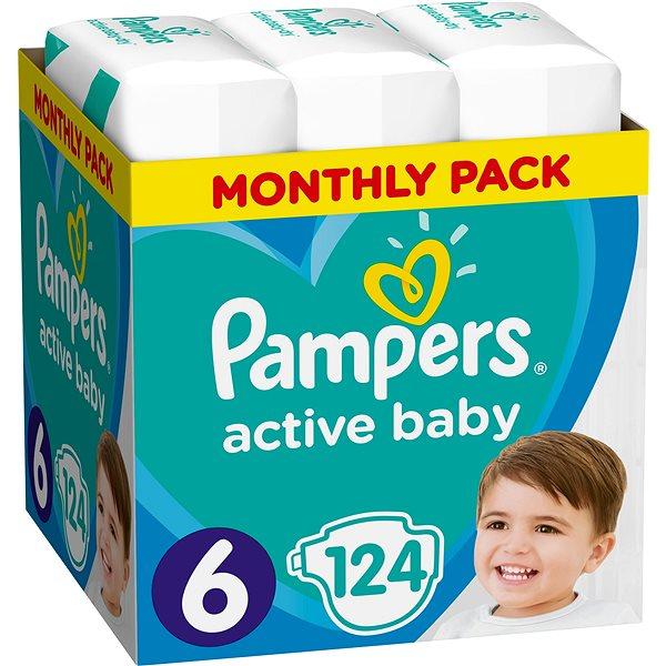 Dětské pleny PAMPERS Active Baby-Dry vel. 6 Extra Large (124 ks) - měsíční balení