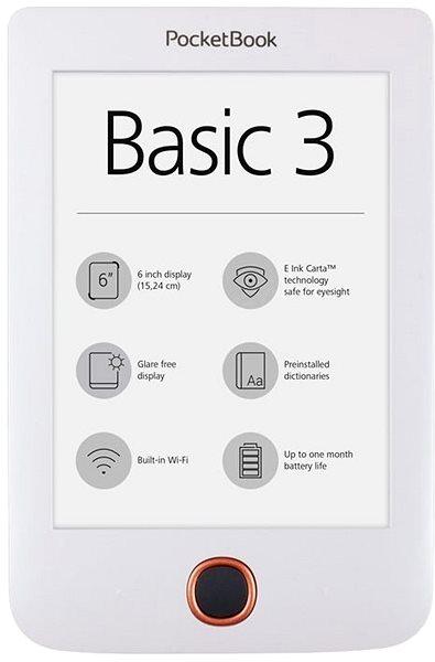 Elektronická čtečka knih PocketBook 614 (2) Basic 3 bílý