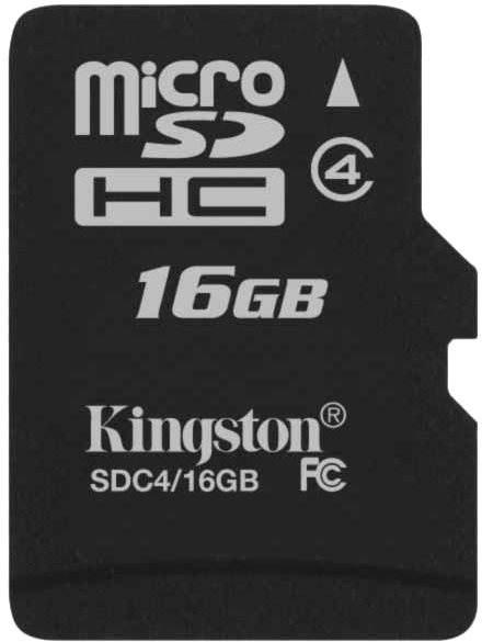 Paměťová karta Kingston Micro SDHC 16GB Class 4