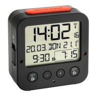 Digitální budík s hodinami řízenými DCF signálem TFA 60.2528.01 BINGO - černý