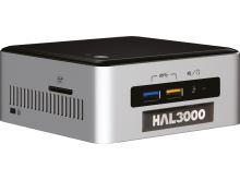 HAL3000 NUC Kit Core W10/ Intel Core i3-6100U/ 4GB/ SSD 120GB/ WiFi/ CR/ W10