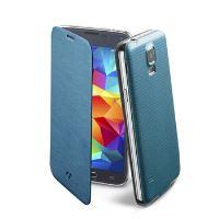 Pouzdro typu kniha CellularLine Backbook pro Samsung Galaxy S5 / S5 Neo, modré