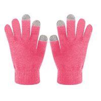 Zimní rukavice CELLY Touch Gloves pro ovládání kapacitních displejů, vel. S/M, růžové