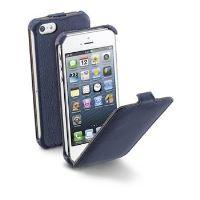 Pouzdro flap CellularLine FLAP pro Apple iPhone 5/5S/SE, PU kůže, modré