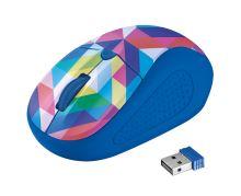myš TRUST Primo Wireless Mouse - blue geometry