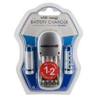 WE Nabíječka pro 2 baterie AA/AAA + 2xAA 2800mAh