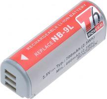 Baterie T6 power Canon NB-9L, 700mAh, šedá