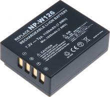 Baterie T6 power Fuji NP-W126, 1100mAh, černá