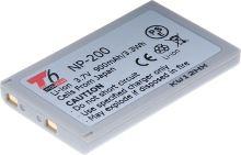 Baterie T6 power Minolta NP-200, 900mAh, šedá