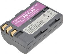 Baterie T6 power Nikon EN-EL3e, 1700mAh, šedá
