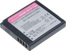 Baterie T6 power Panasonic DMW-BCF10E, 800mAh, černá