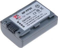 Baterie T6 power Sony NP-FP50, 750mAh, šedá