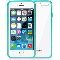 Jison Case, průhledný TPU obal pro iPhone 6, zelený okraj